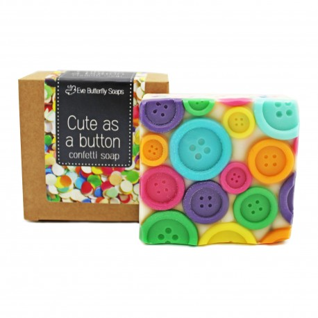 "Konfettiseife ""Cute as a button"""